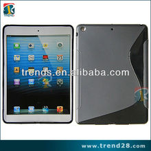 newest!for ipad 5 s shape matte tpu+pc case with the rough sides