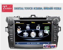 Touch screen Car Stereo for Toyota Corolla (2007-2013) GPS SatNav Navi DVD AutoRadio Multimedia Headunit