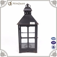 black grave lantern for funeral , metal lantern manufacture