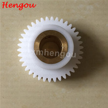 Durable White Komori nylon water roller gear for Komori printing machine 38 teeth nylon bevel gears