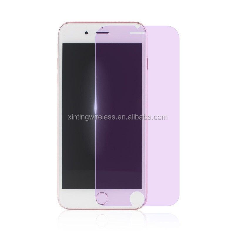 Purple light protect eyes 0.33mm 2.5D and 9H tempered glasses for iphone7