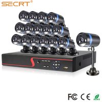 Hotsale H.246 Network DVR with 16pcs Metal Bullet Camera 25m IR