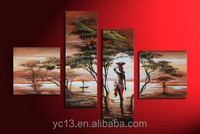 fashion african landscape wall art modern decoration canvas oil painting