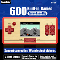 FC Nostalgic Handheld Game Console Retro 2.6 Inch HD Built-in 600 Games