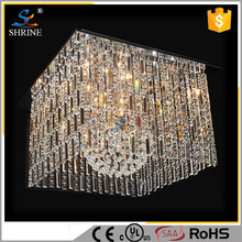 Luxuriously Modern Crystal Chandelier Light Golden Ceiling Lights