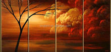 Canvas tree painting wall pictures for living room