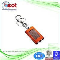 Wholesale Personalized led solar light blinking keychain