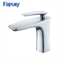 Fapully single handle brass bathroom wash basin faucet with chrome
