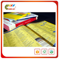 Fast delivery top quality business printer cheap custom printed yellow pages