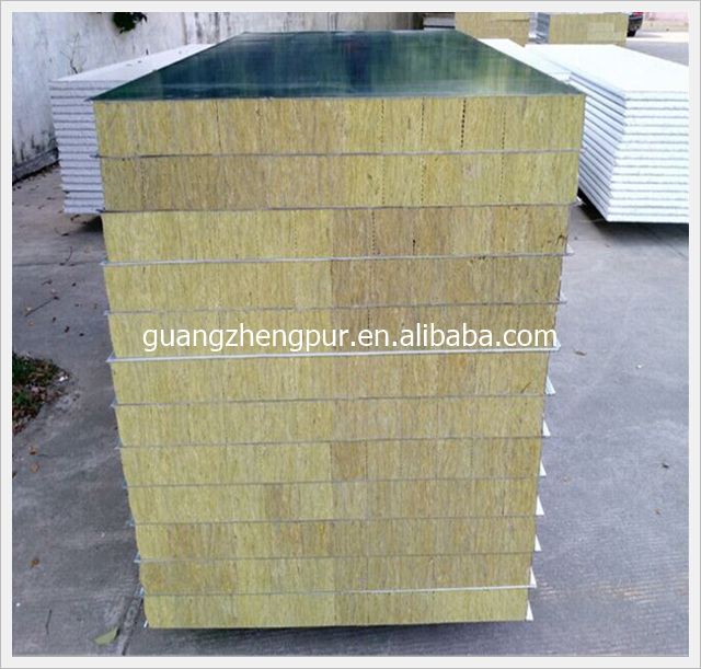 Insulated fire rated rockwool sandwich wall panel buy for Rockwool fire rating