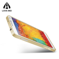 Love Mei Christmas Discount Aluminum Metal bumper Mobile Phone Case for Samsung Galaxy note3