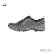 top quality dark gray men's golf shoe hot sale rubber golf shoes wholesale low price golf shoe spikes