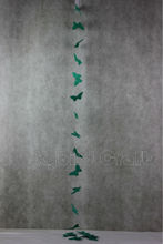 paper butterfly strand/colorful strand decoration/artificial paper butterfly