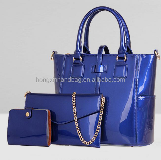 2017 Fashion three-pieces shoulder bag genuine leather ladies handbag set