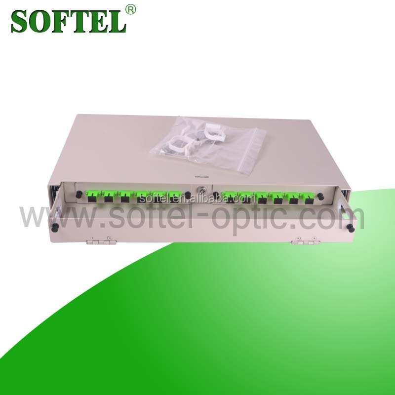[SOFTEL]odf wall mount with lock,sc apc adapter/optical fiber distribution frame,odf fiber termination box/odf 12 core