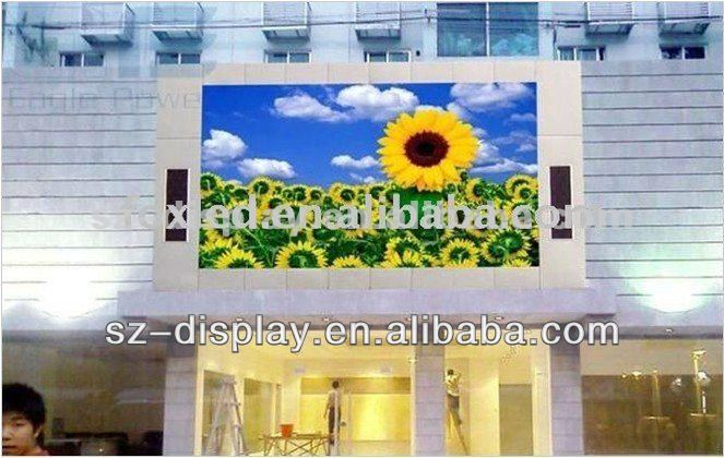 P20 2R1B1G LED Video Walls 1/4 Scan / Static DVI / HDMI Outdoor For Advertising