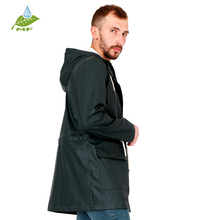 Texture soft cheap color customizable black rain poncho men