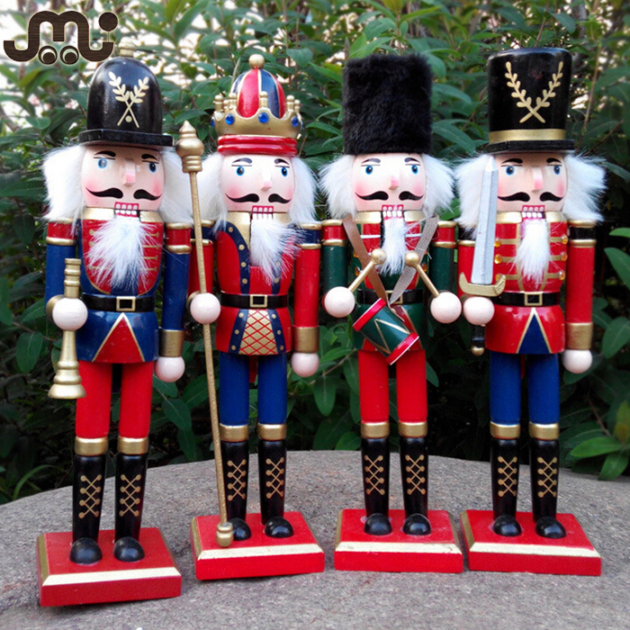 Handmade wooden christmas decoration nutcracker,24cm tall nutcracker soldier