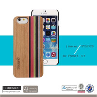 Wholesale Fashion Mix Colored Real Wood Custom Hard Back Wooden Cell Phone Cases for iPhone 6 6s Case