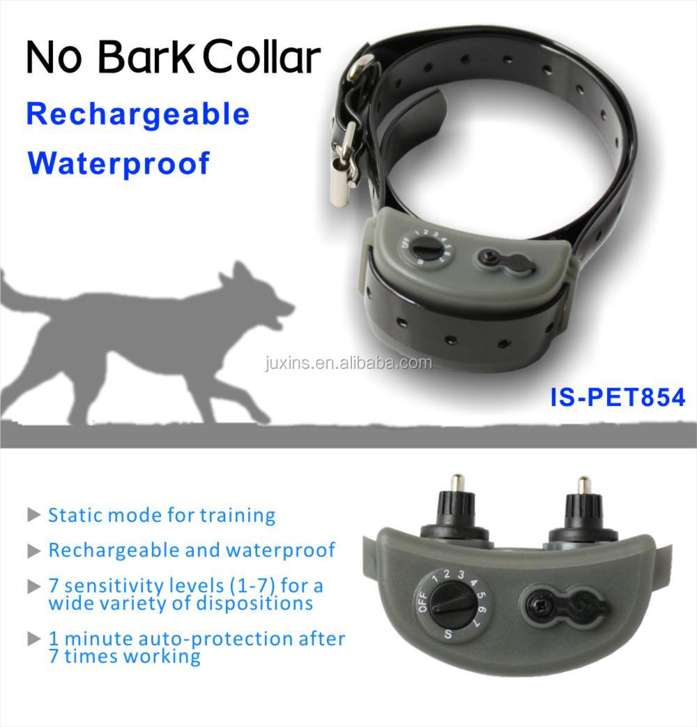 Waterproof and rechargeable no bark collar