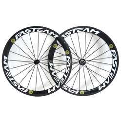 Lightweight carbon 50mm Clincher Road Carbon Bike wheels Racing Bicycle Wheelset Powerway R13 Carbon Hubs with free shipping
