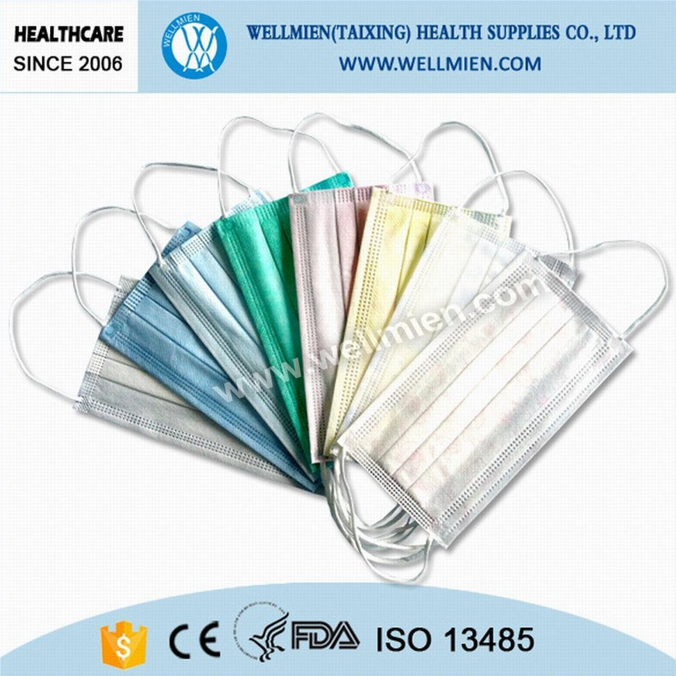 Disposable 3 Ply Non-woven Medical Face Mask with FDA