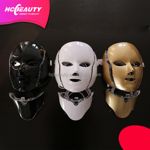 Color light therapy beauty photon Skin lifting led mask with neck case