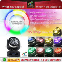 New design 36 x 10W RGBW Quad in 1 LED Moving Head Lights 39 DMX Channel Lighting