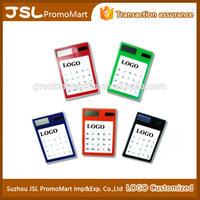 Promotional Office Gift Touch Screen Thin Solar Pocket Calculator with Customized Logo