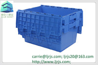 plastic nestable and stackable container warehouse plastic box
