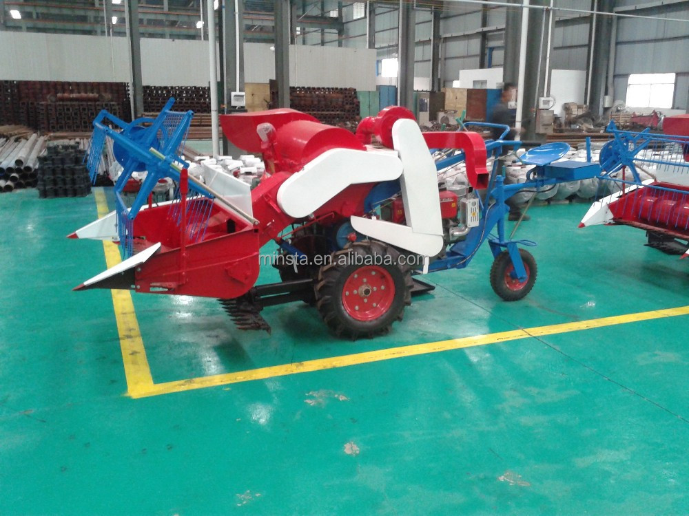 Manufacturer-gasoline/diesel engine reaper binder machine small rice harvester (Patented)