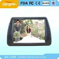 large screen 15 inch portable dvd player with tv radio