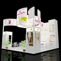 Beautiful aluminum 6x6 exhibition booth design from Shanghai