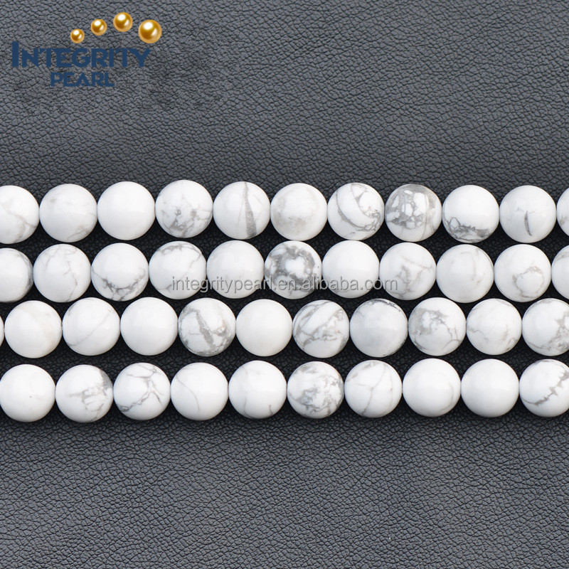 6-12mm natural loose gemstone white turquoise beads