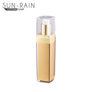 30ml 50ml Silver shining recycling plastic airless pump bottle for lotion serum