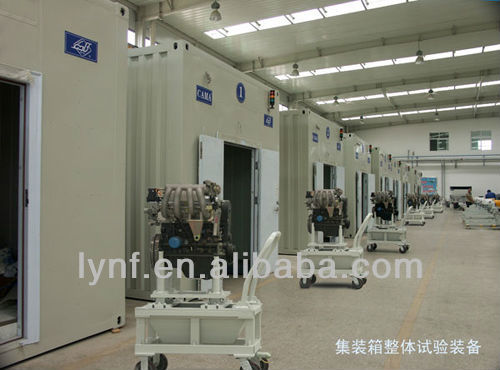 Containerized engine / motor / gearbox test bed / test cell
