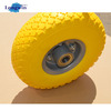 colourful pu form wheel 3.00-4 flat free wheel