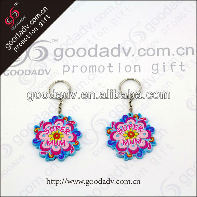 Lovely Flower Shape keychain custom pvc keychain 3D soft pvc keychain