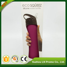 Bpa Free Environmental Custom Volume Folding Portable Silicone Foldable Water Bottle