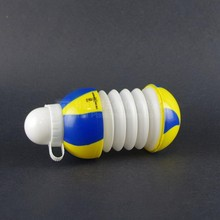 old factory creative design foldable plastic ball shaped water bottle