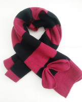 2016 New Design Winter Stripe Knitted Scarf Girls