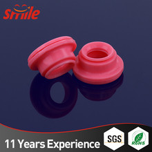 Custom Red Colored Silicone Angled Rubber Grommet For Electrical Wires