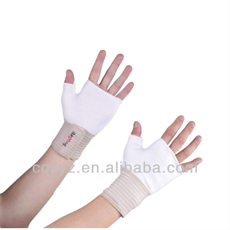Breathable cotton Bicycle Gloves riding gloves fingerless Sports gloves