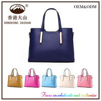 2016 New Year On shopping Custom Wholesale PU Fashion Popular Woman Tote Hand Bag for lady Free Sample handbags