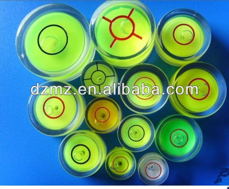 Round Hand Tool Parts Plastic Spirit Bubble Level