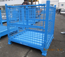 10 Years Life-span Warehouse Metal Wire Foldable Storage Cage Container