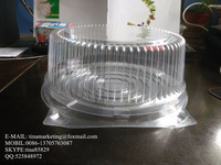 High Quality Transparent PET Material Plastic Round Clamshell Hinged Dome Cake Conatiner Box Packaging Manufactory Price