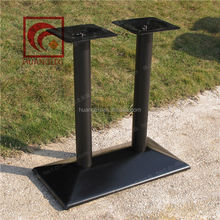 Factory direct special, wrought iron metal table legs, double column steel table frame