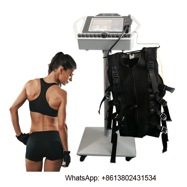 EMS Muscle Stimulator with  wireless EMS Training Suit,electro fitness ems training machine
