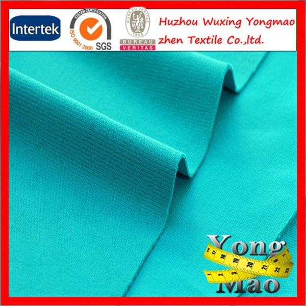 DTY50D 75D 100D 150D heavy weight polyester or cotton 1x1 french rib fabric